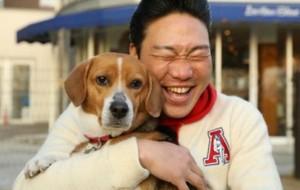 みやぞん 愛犬ラブを連れとんねるず石橋と散歩! 4月13日